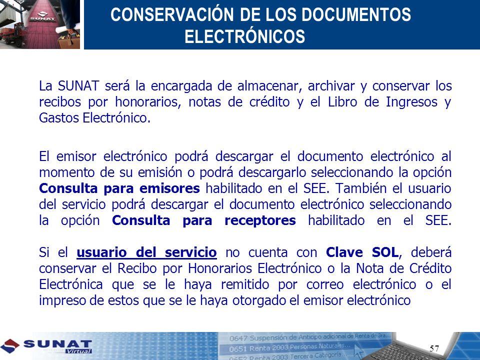 CONSERVACIÓN DE LOS DOCUMENTOS ELECTRÓNICOS