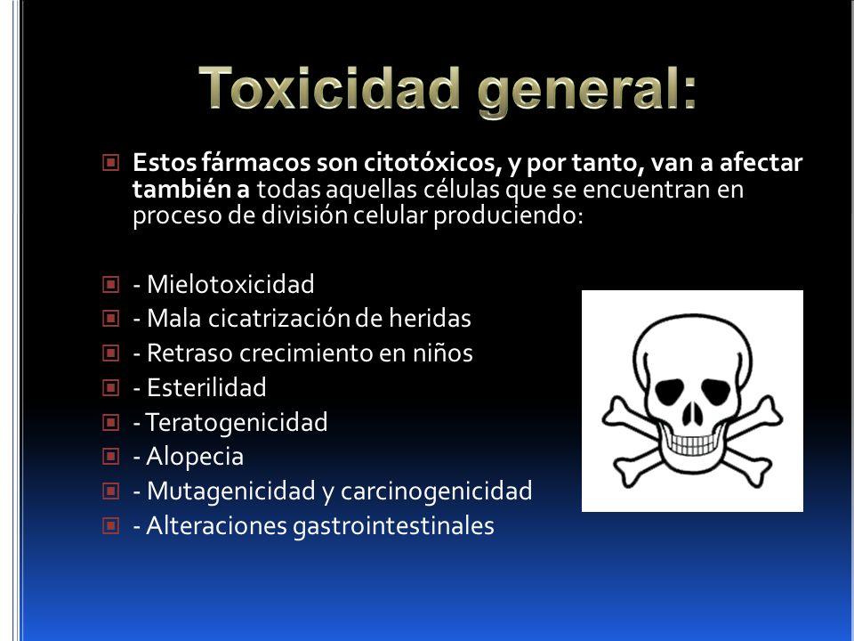 Toxicidad general: