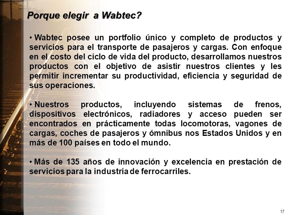 Porque elegir a Wabtec