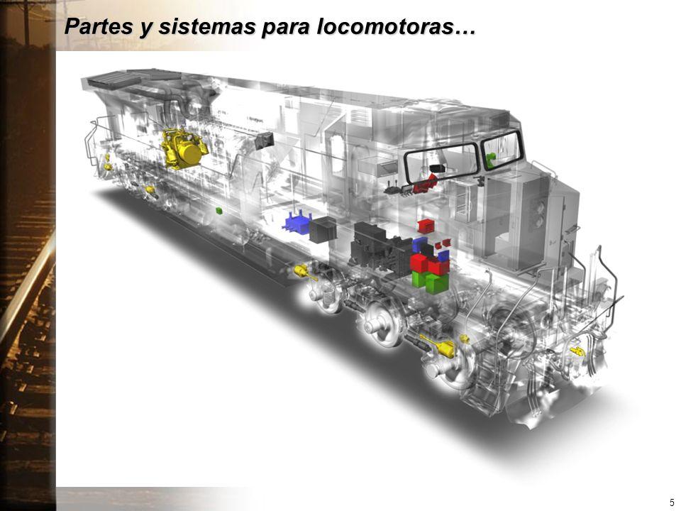 Partes y sistemas para locomotoras…