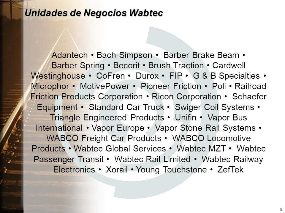 Unidades de Negocios Wabtec