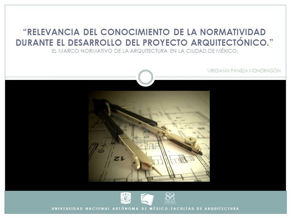 UNIVERSIDAD NACIONAL AUTÓNOMA DE MÉXICO-FACULTAD DE ARQUITECTURA