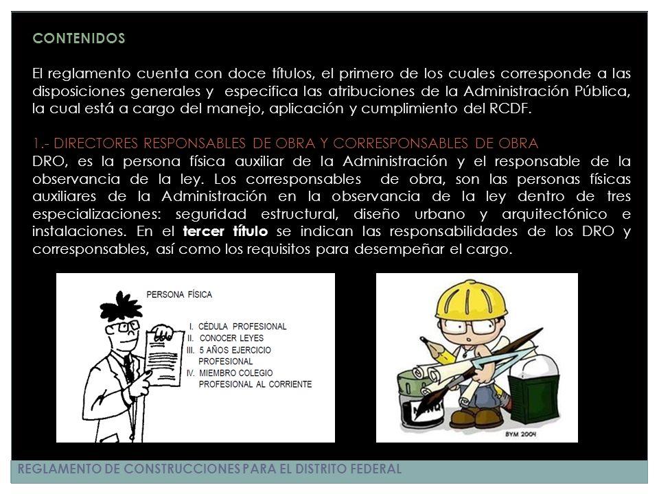 1.- DIRECTORES RESPONSABLES DE OBRA Y CORRESPONSABLES DE OBRA