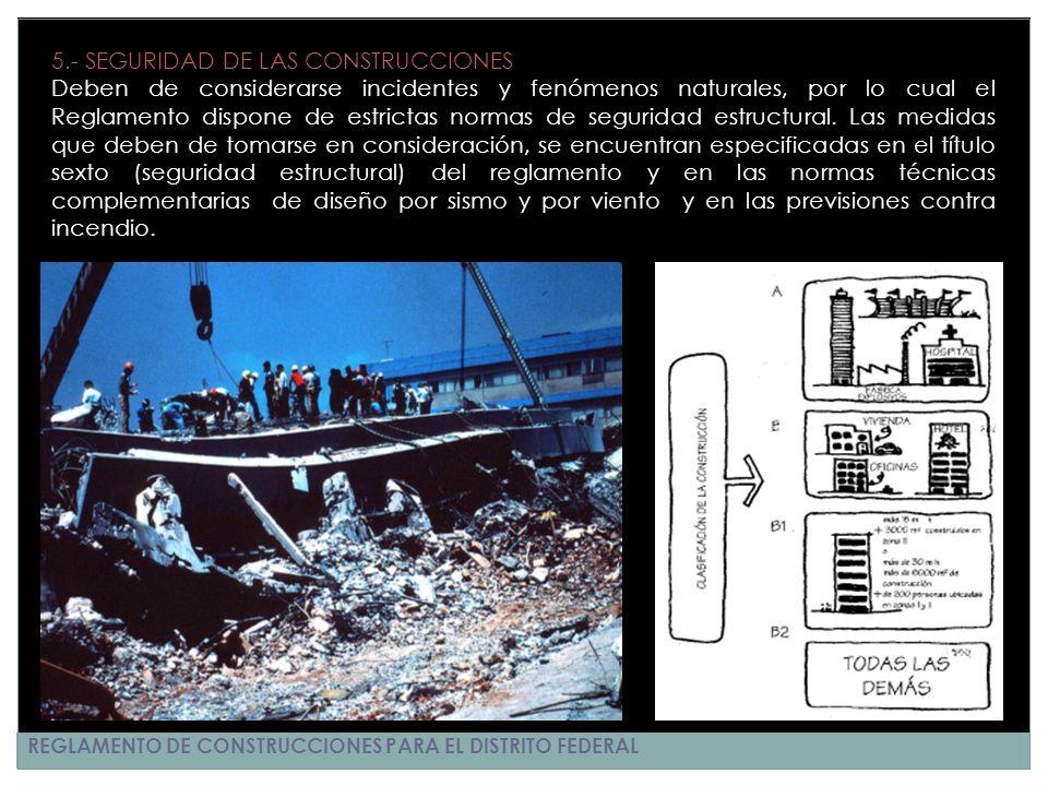 5.- SEGURIDAD DE LAS CONSTRUCCIONES