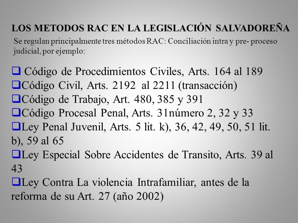 LOS METODOS RAC EN LA LEGISLACIÓN SALVADOREÑA