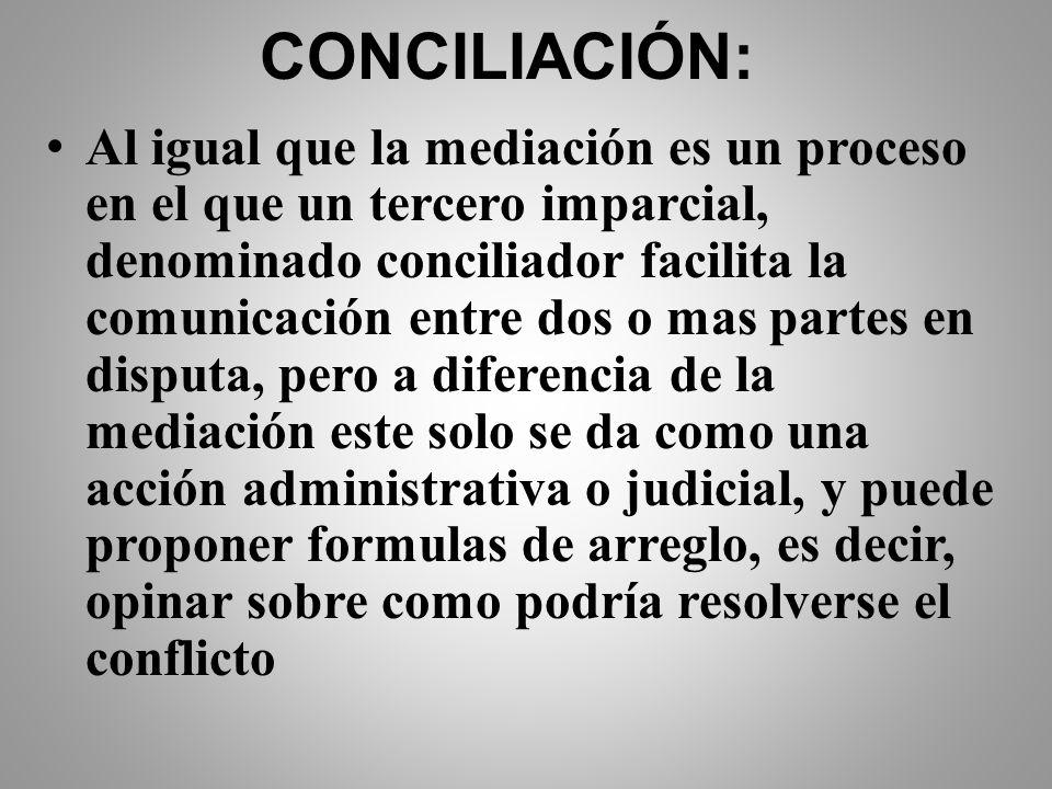CONCILIACIÓN: