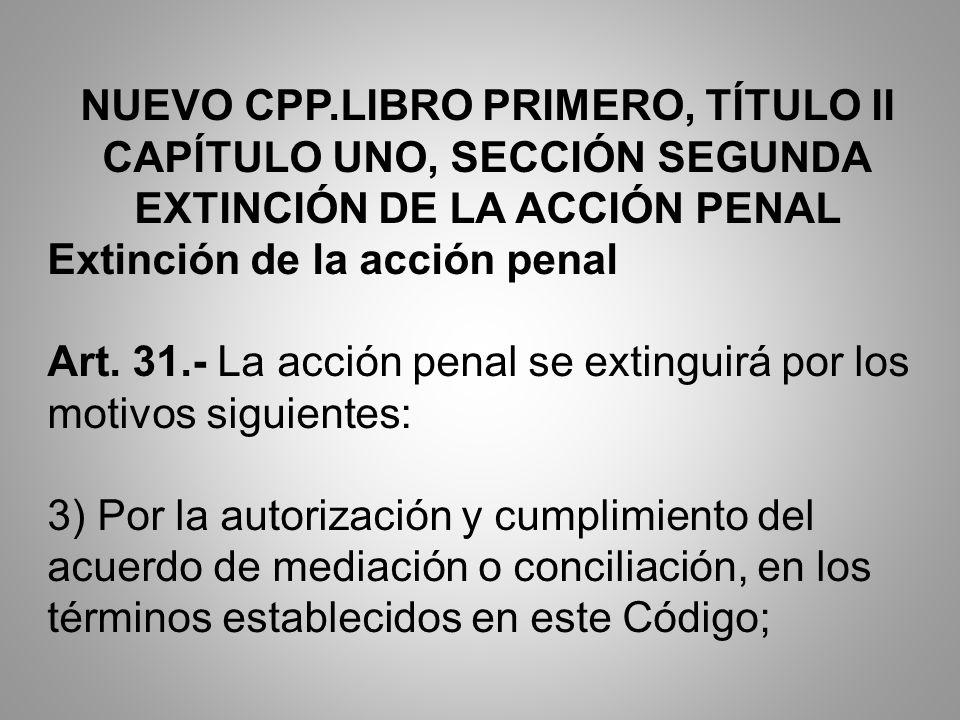 NUEVO CPP.LIBRO PRIMERO, TÍTULO II