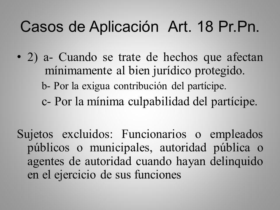 Casos de Aplicación Art. 18 Pr.Pn.