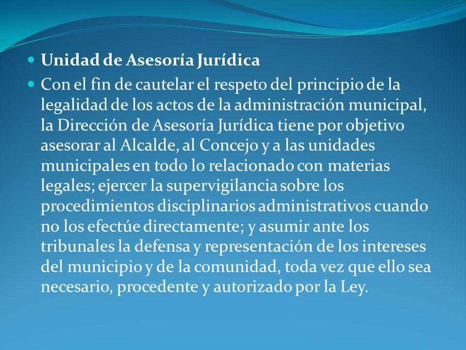 Unidad de Asesoría Jurídica