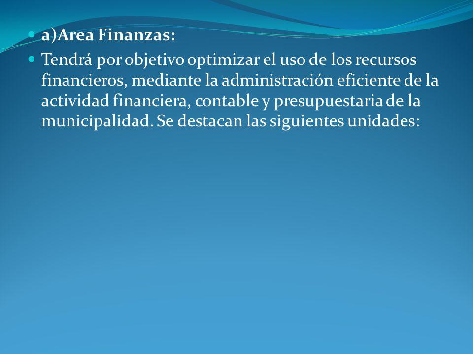 a)Area Finanzas: