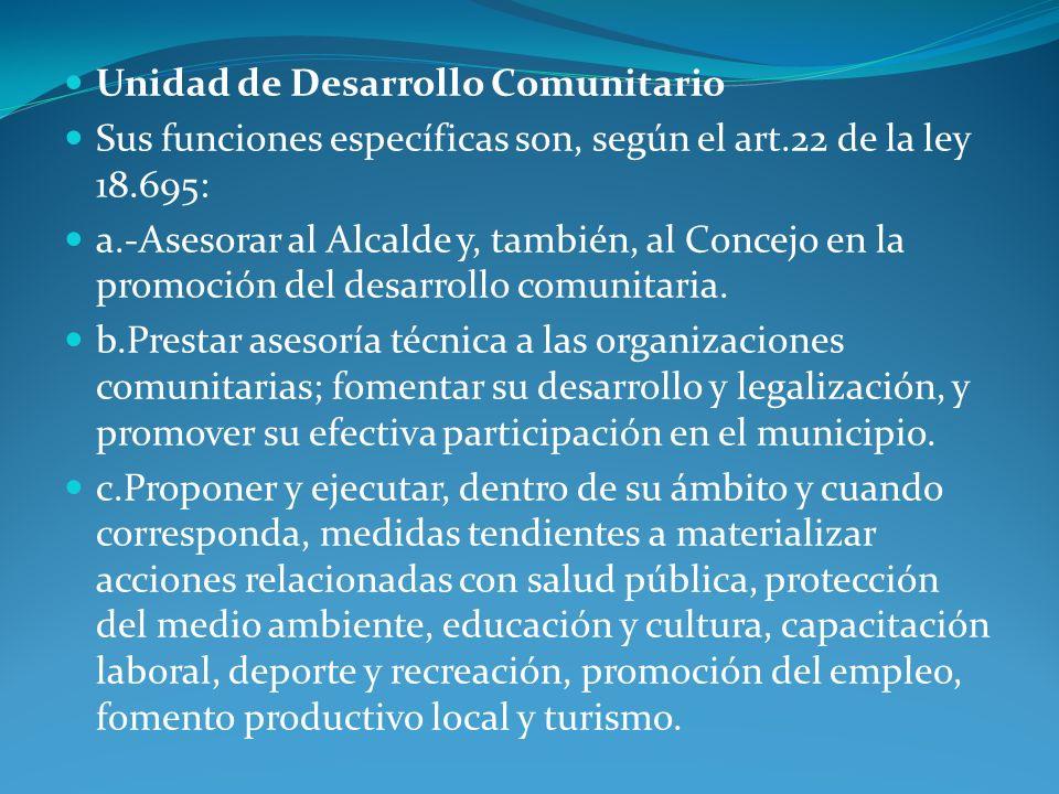 Unidad de Desarrollo Comunitario