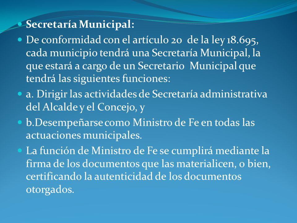 Secretaría Municipal: