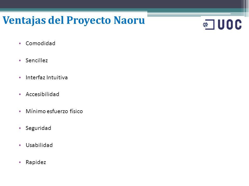Ventajas del Proyecto Naoru