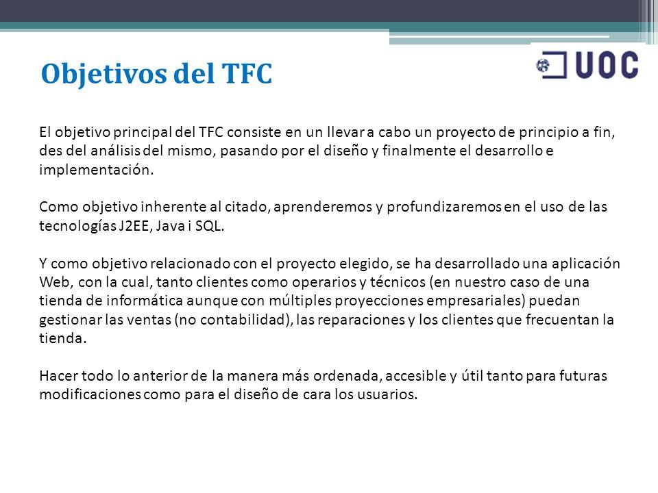 Objetivos del TFC