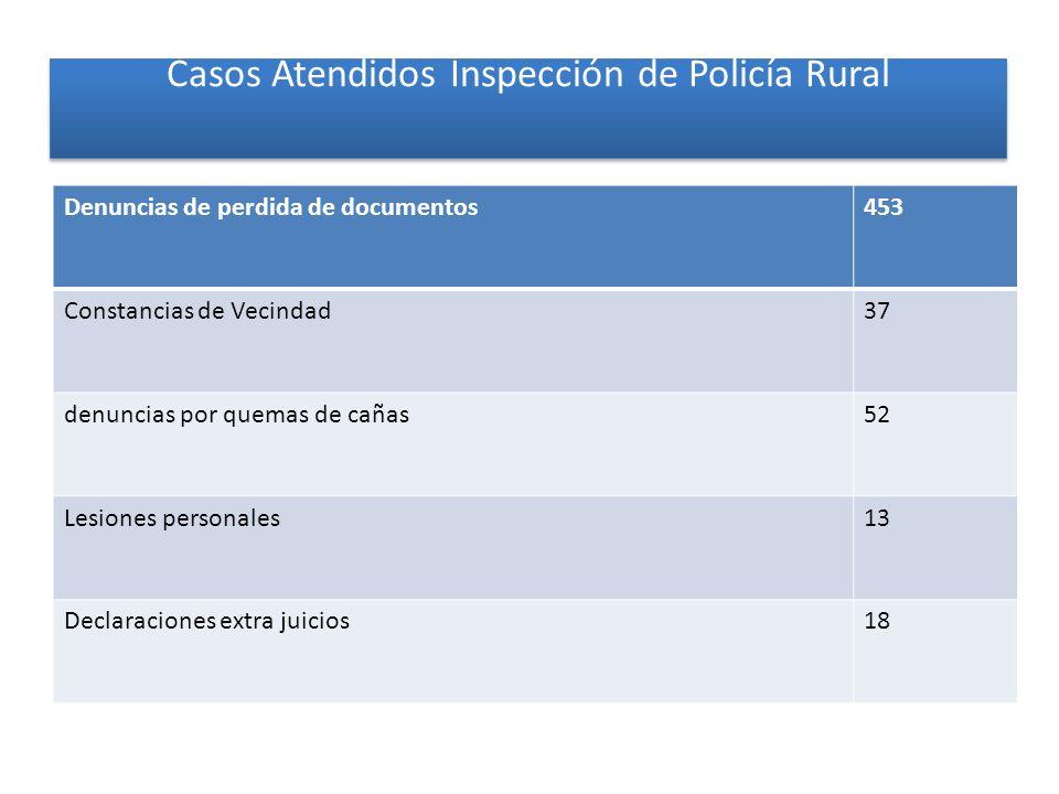 Casos Atendidos Inspección de Policía Rural