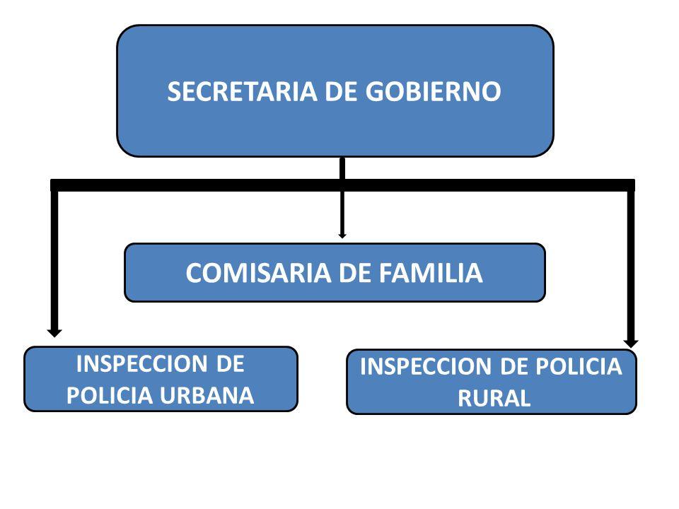 SECRETARIA DE GOBIERNO INSPECCION DE POLICIA URBANA