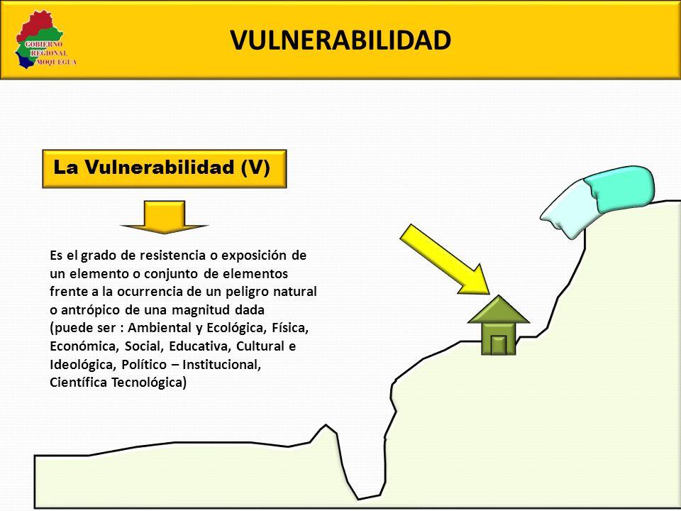VULNERABILIDAD La Vulnerabilidad (V)