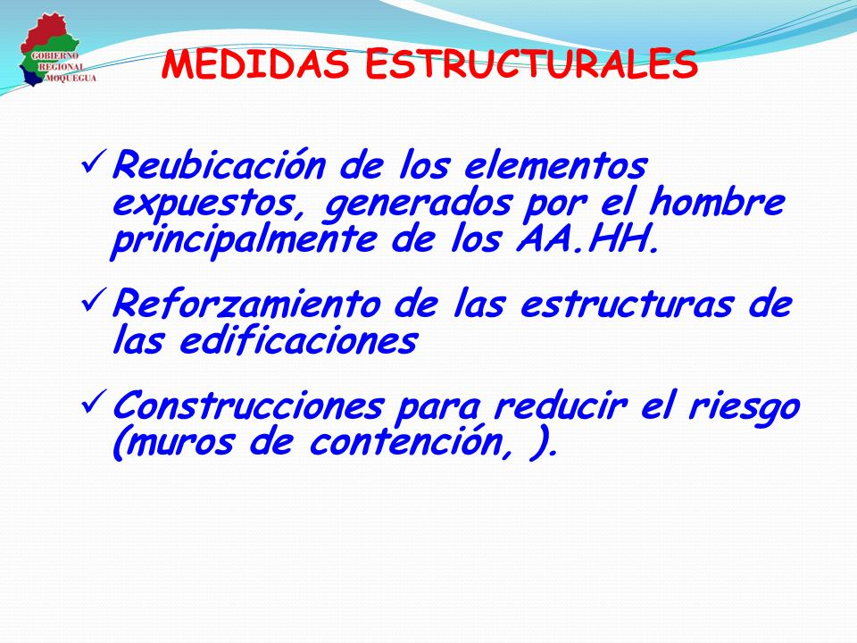 MEDIDAS ESTRUCTURALES