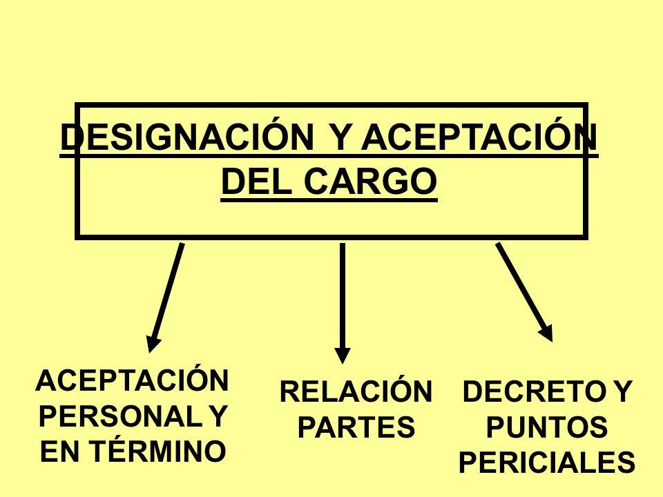 DESIGNACIÓN Y ACEPTACIÓN DEL CARGO