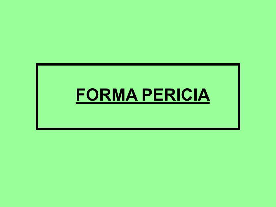 FORMA PERICIA