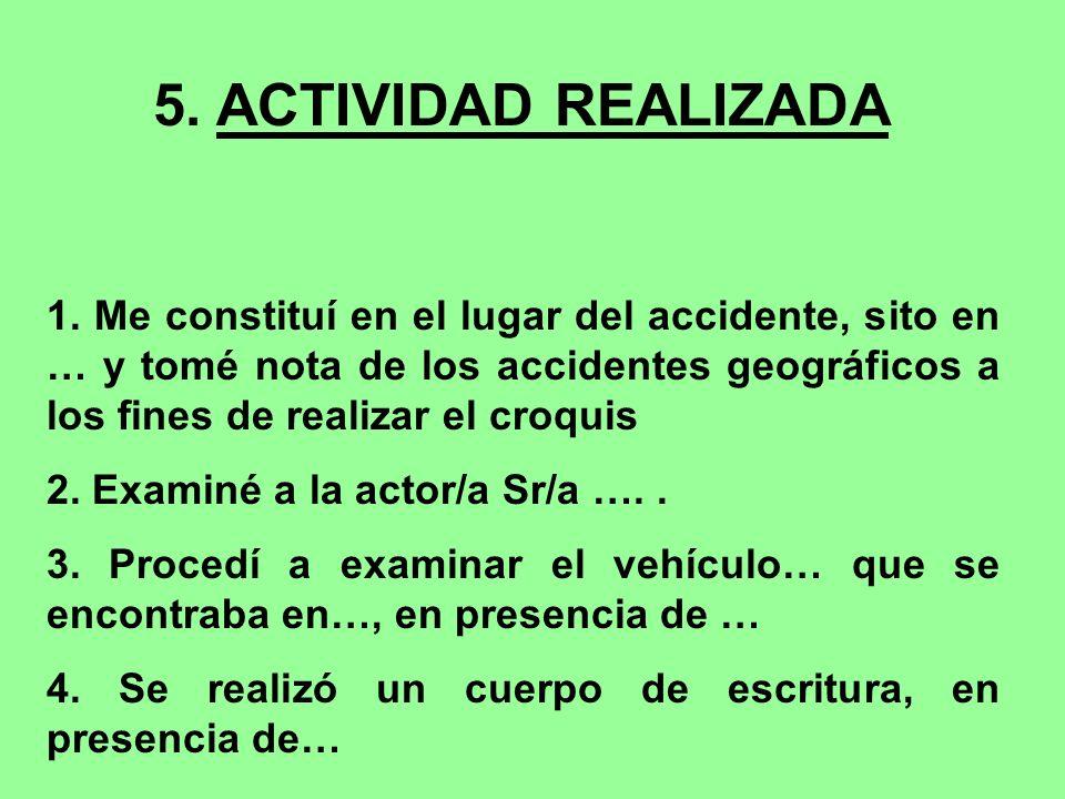 5. ACTIVIDAD REALIZADA