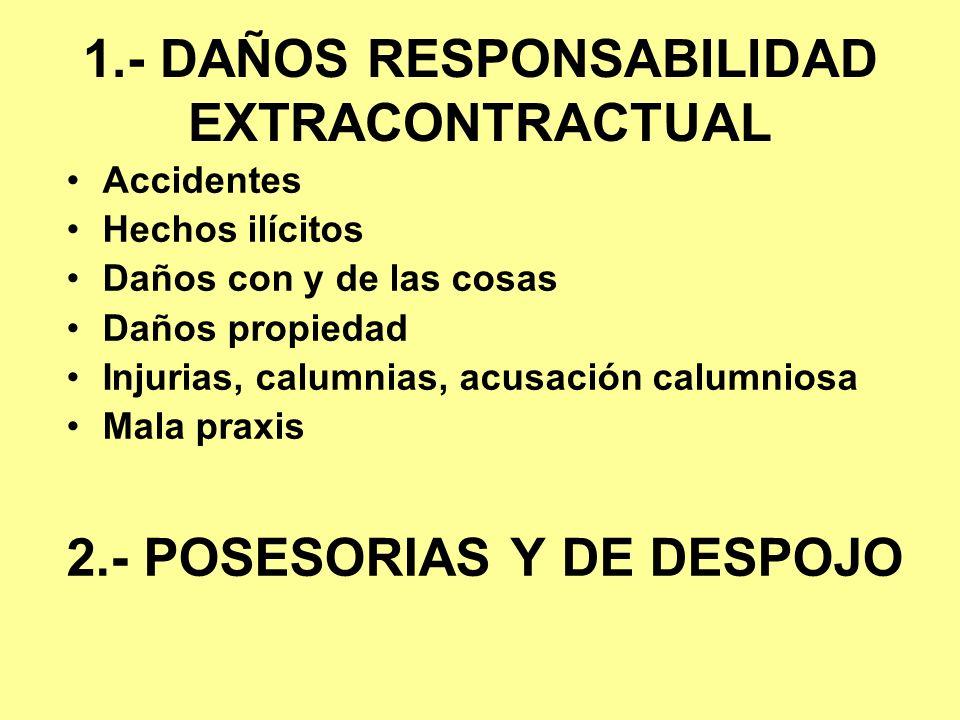 1.- DAÑOS RESPONSABILIDAD EXTRACONTRACTUAL