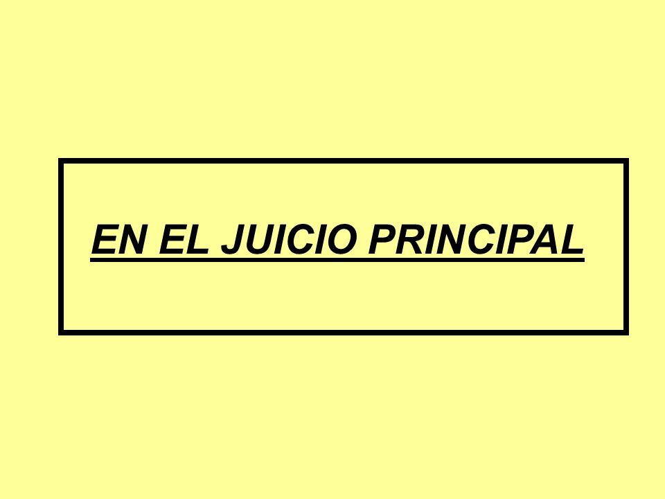 EN EL JUICIO PRINCIPAL
