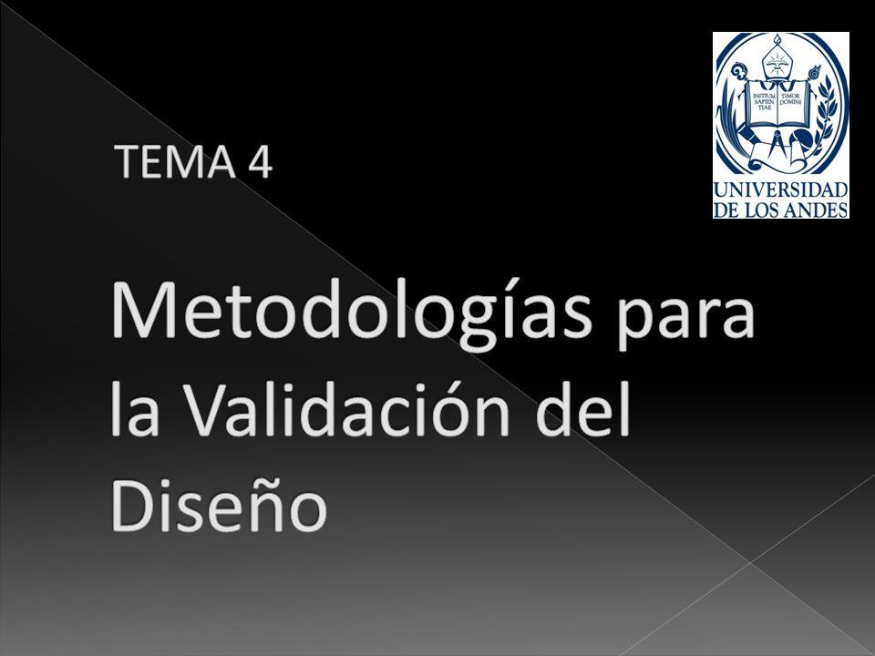 Metodologías para la Validación del Diseño