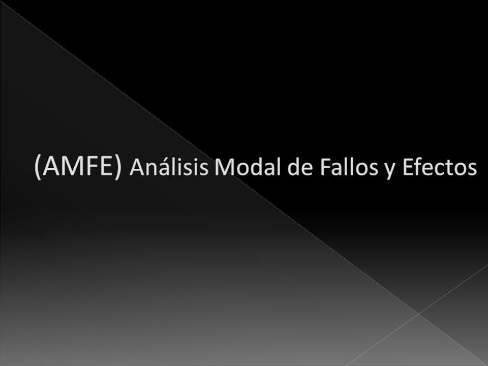 (AMFE) Análisis Modal de Fallos y Efectos