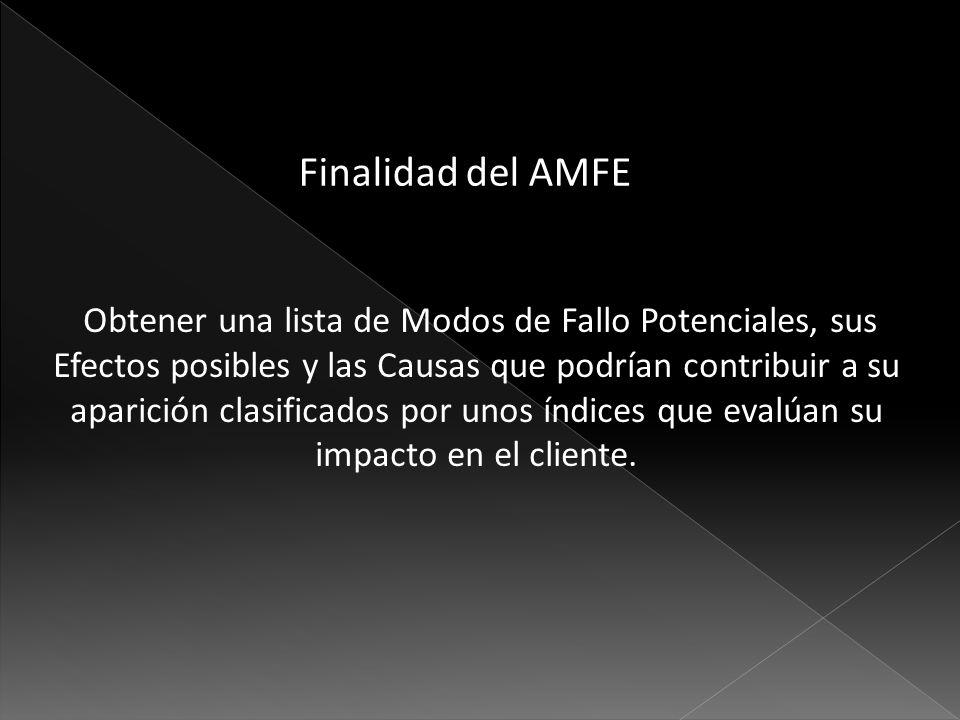 Finalidad del AMFE