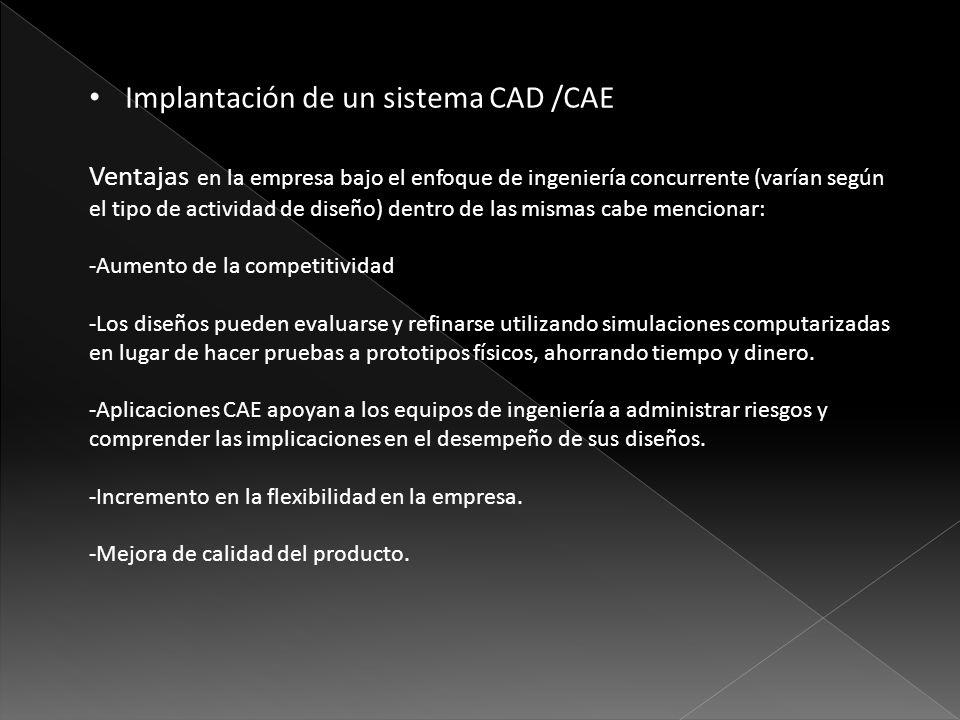 Implantación de un sistema CAD /CAE