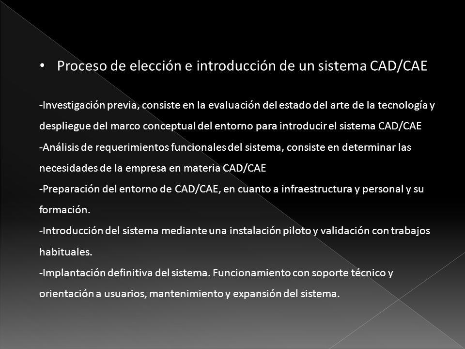 Proceso de elección e introducción de un sistema CAD/CAE
