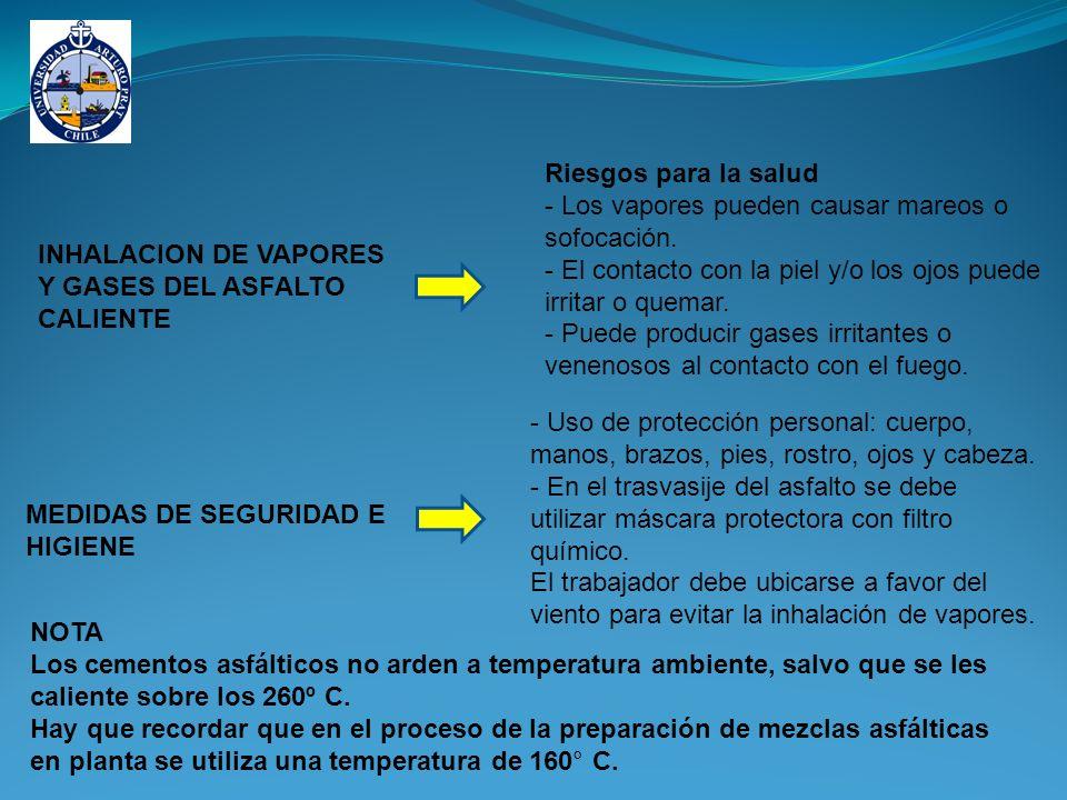 Riesgos para la salud - Los vapores pueden causar mareos o sofocación. - El contacto con la piel y/o los ojos puede irritar o quemar.