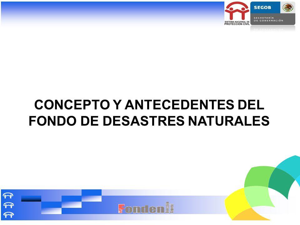 CONCEPTO Y ANTECEDENTES DEL FONDO DE DESASTRES NATURALES