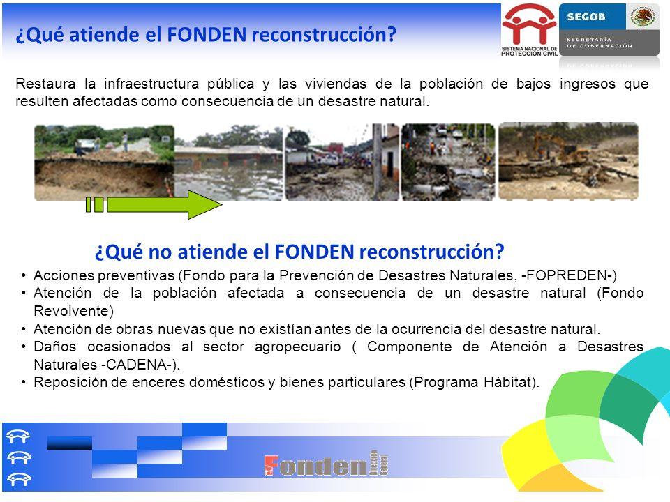 ¿Qué no atiende el FONDEN reconstrucción