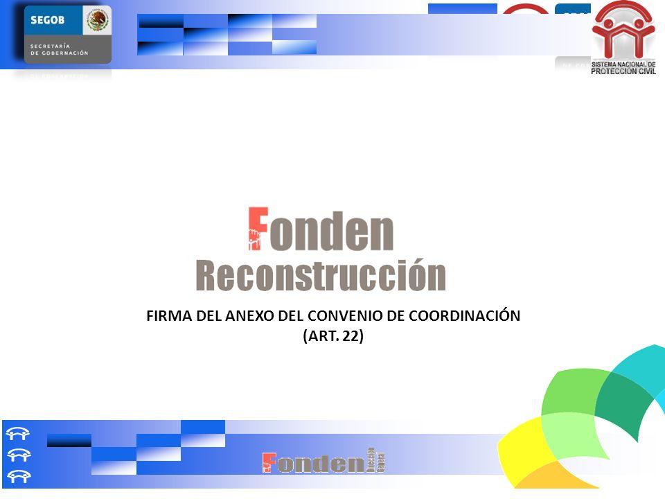 FIRMA DEL ANEXO DEL CONVENIO DE COORDINACIÓN