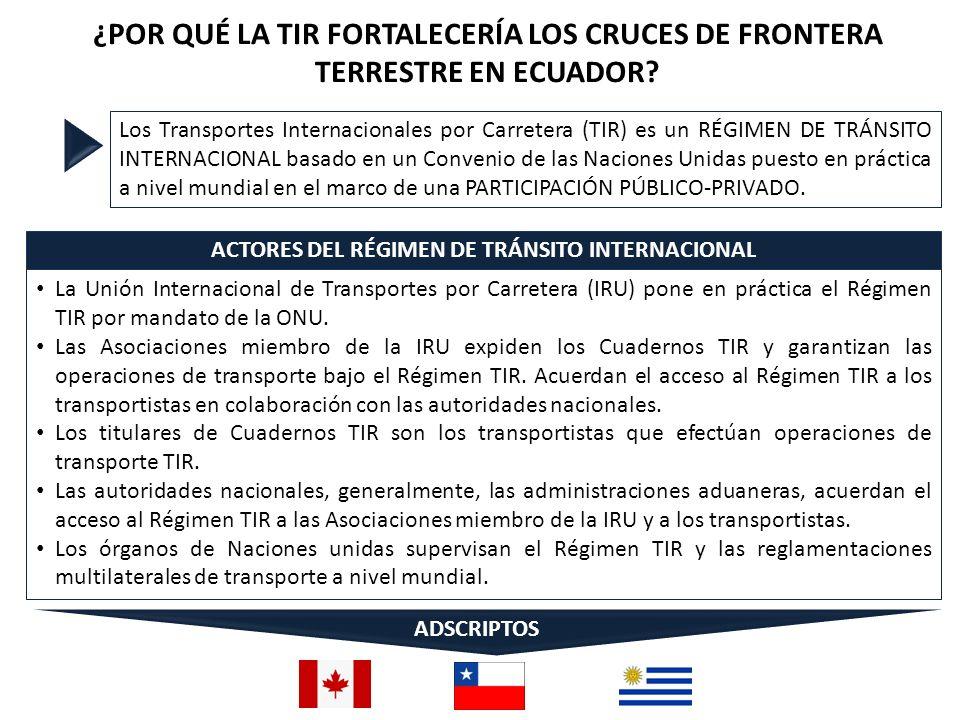 ACTORES DEL RÉGIMEN DE TRÁNSITO INTERNACIONAL