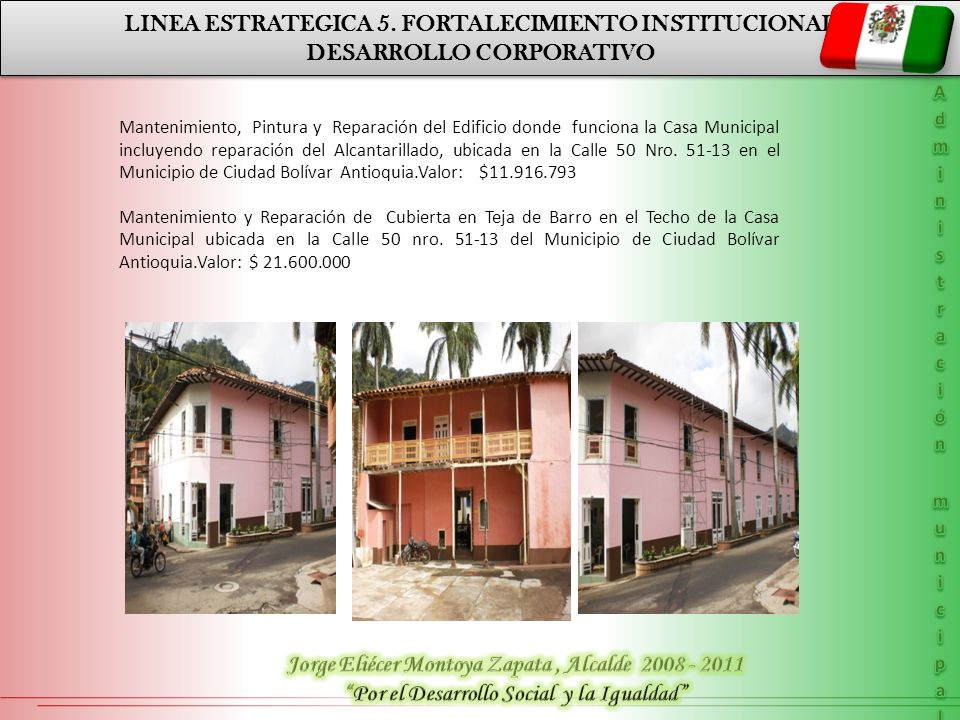 LINEA ESTRATEGICA 5. FORTALECIMIENTO INSTITUCIONAL