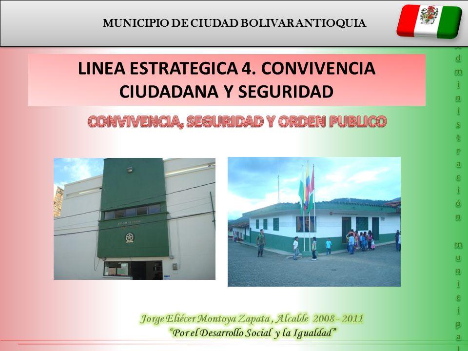 LINEA ESTRATEGICA 4. CONVIVENCIA CIUDADANA Y SEGURIDAD