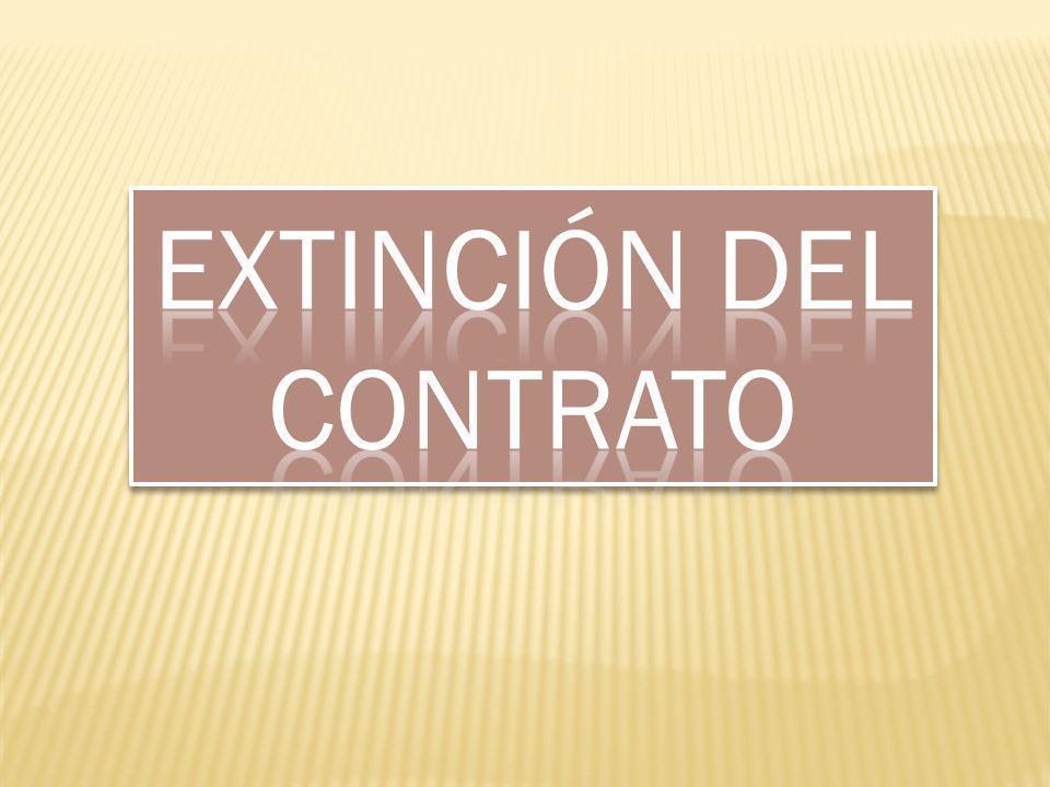Extinción del contrato