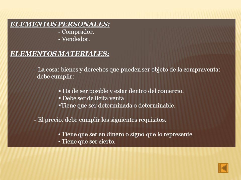 ELEMENTOS PERSONALES:
