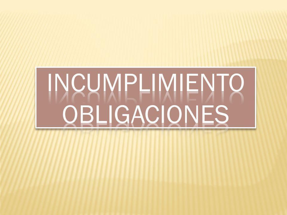 Incumplimiento obligaciones