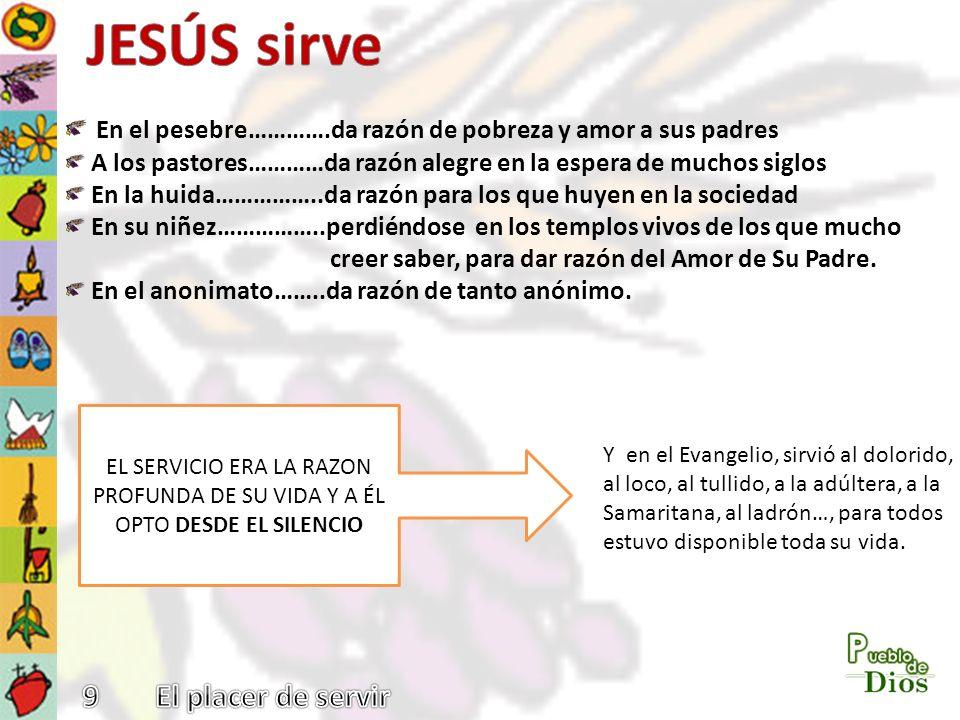 JESÚS sirve En el pesebre………….da razón de pobreza y amor a sus padres