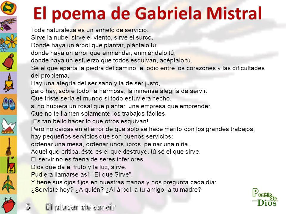 El poema de Gabriela Mistral