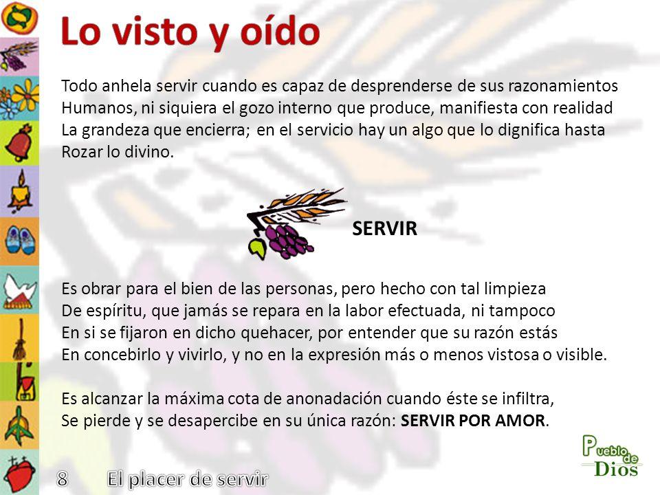 Lo visto y oído SERVIR 8 El placer de servir