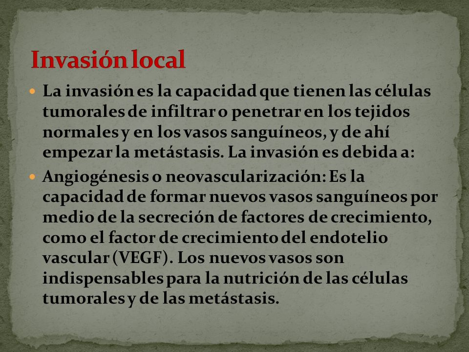 Invasión local