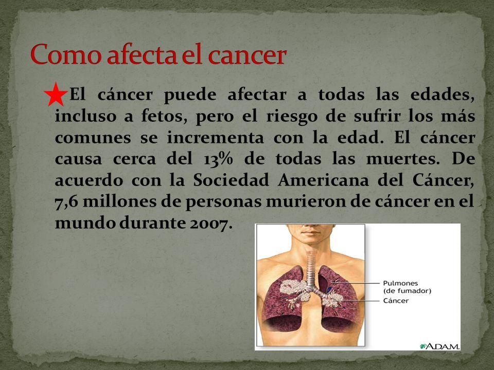 Como afecta el cancer