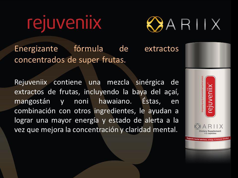 Energizante fórmula de extractos concentrados de super frutas.