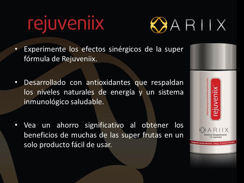 Experimente los efectos sinérgicos de la super fórmula de Rejuveniix.