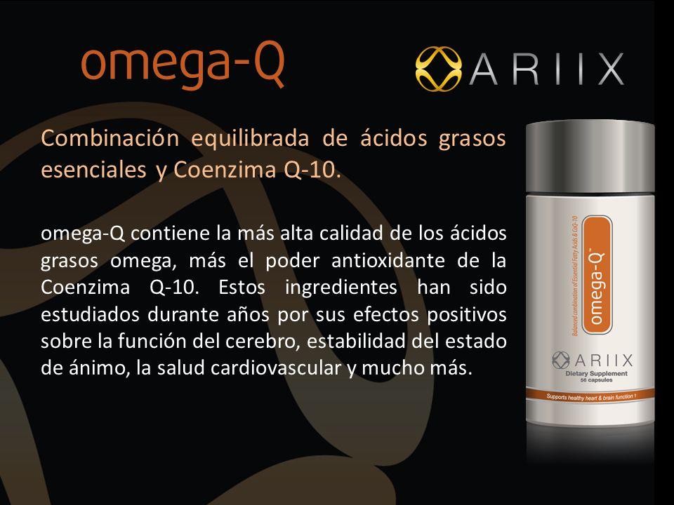 Combinación equilibrada de ácidos grasos esenciales y Coenzima Q-10.
